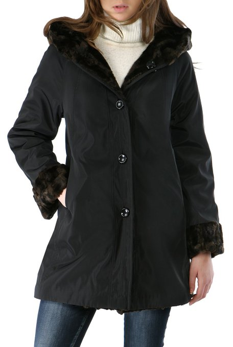 d4f61041967 BGSD Women s Reversible Faux Persian Lamb Hooded A-Line Coat