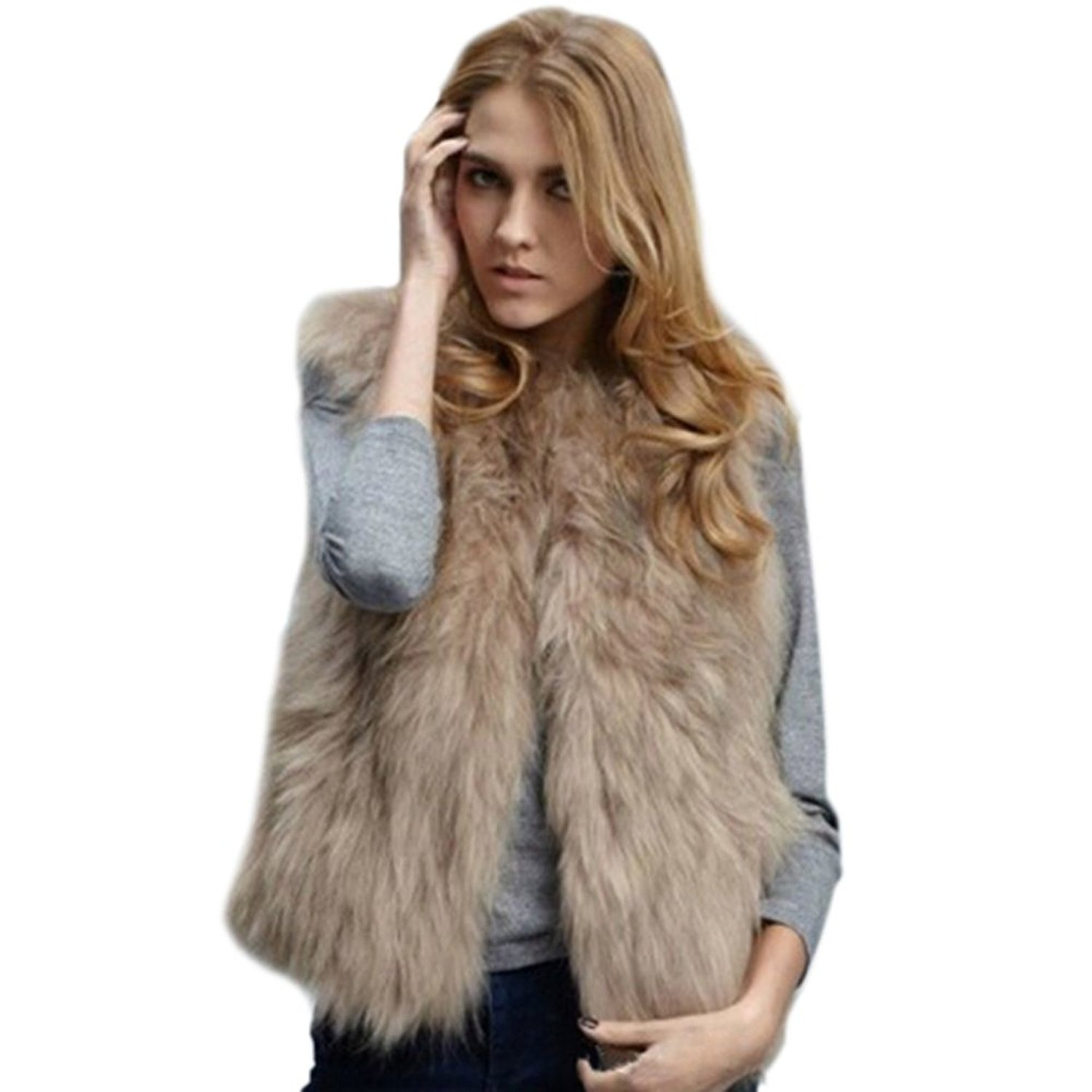 Womens Faux Fur Coat - Tradingbasis