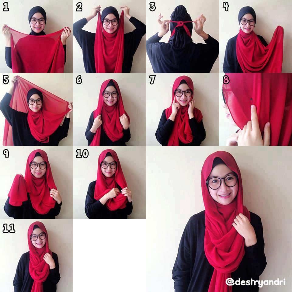 hijab styles step by step hijab styles step by step cute red hijab