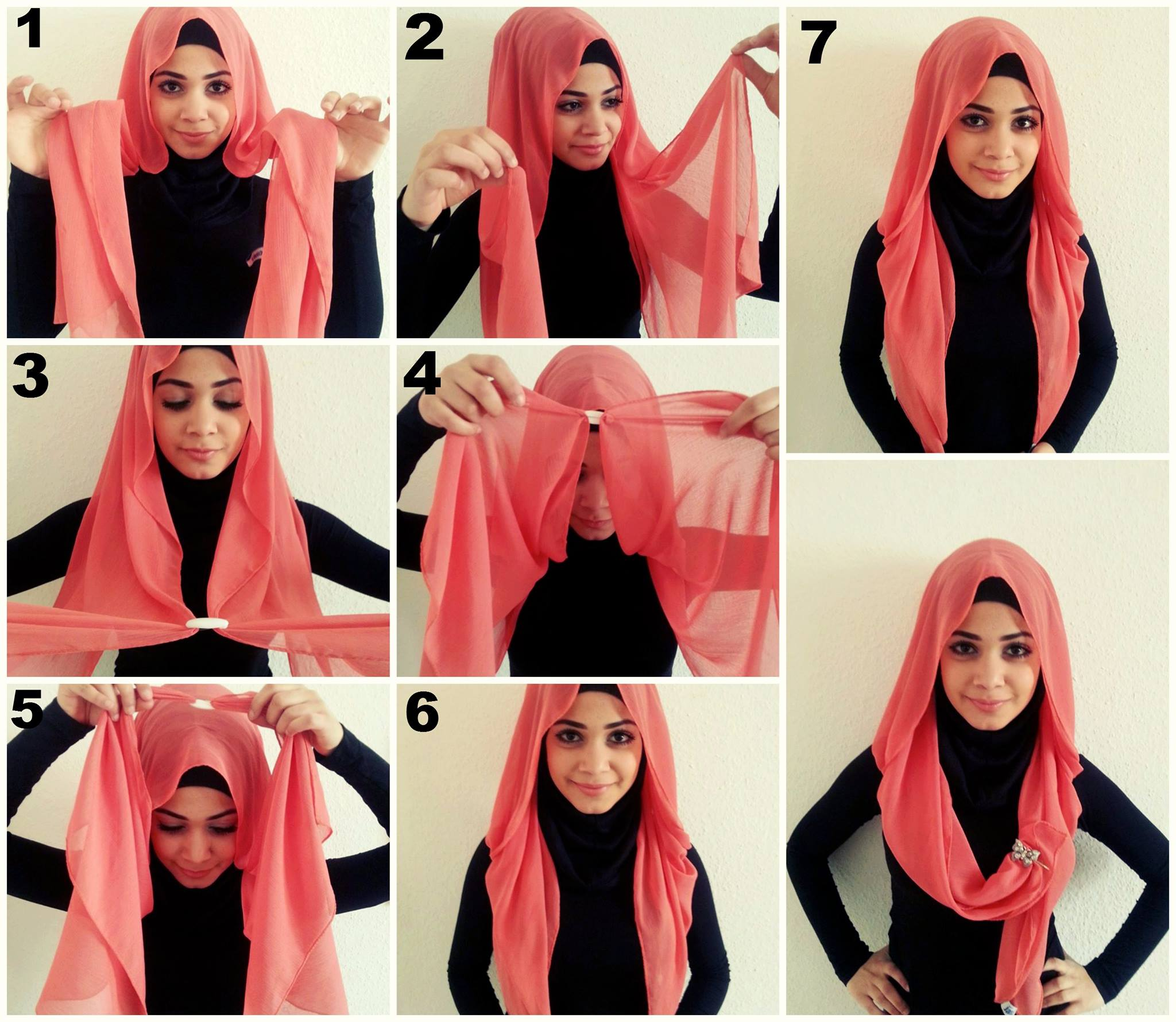 How to hijab wear with long dupatta images