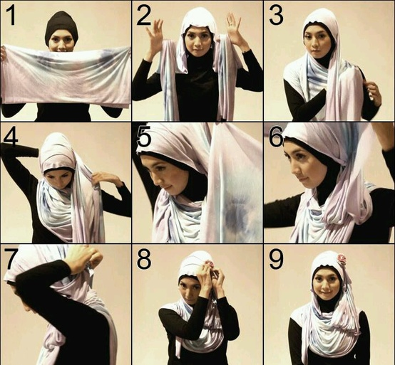 how to put on a hijab step by step