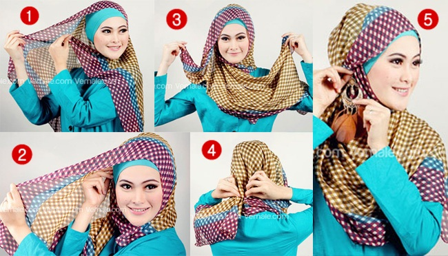 Hijab Styles Step By Step Pictures to pin on Pinterest