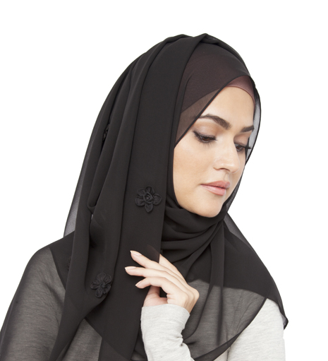 with scarf unique hijab style modern hijab decent black hijab