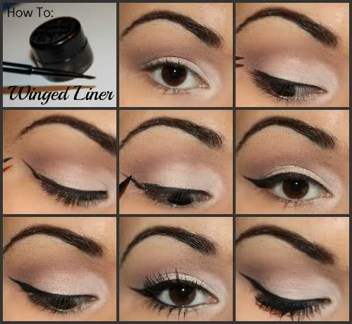 Winged eyeliner step by step