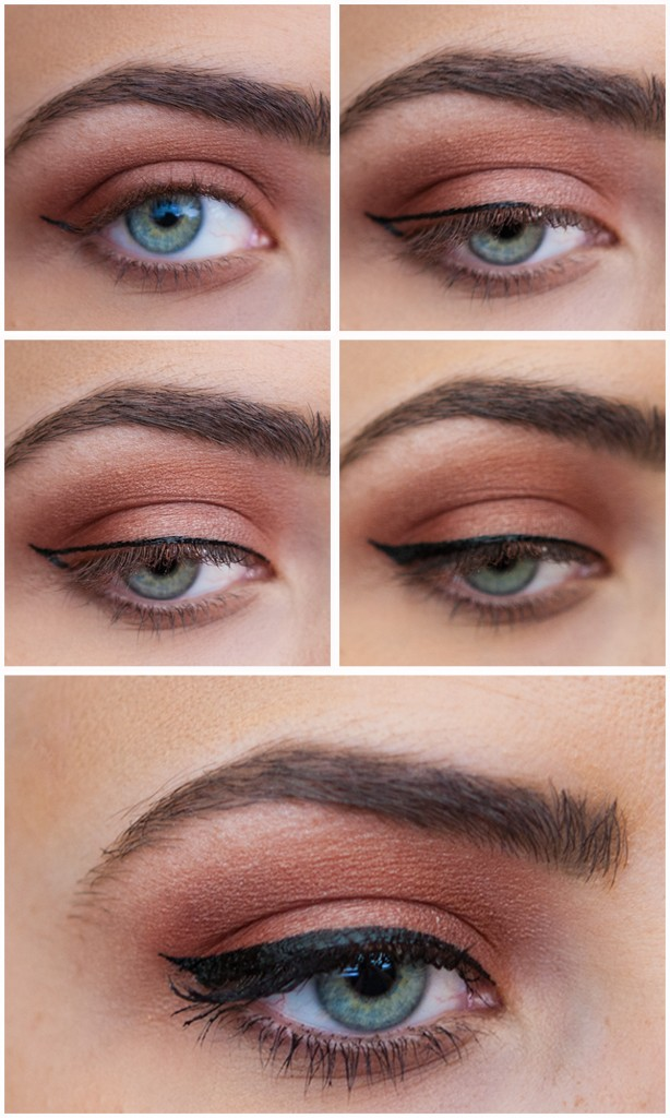 With you Winged eyeliner step by step are