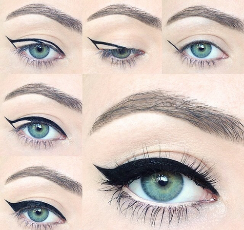 how to put nose line using eyeliner