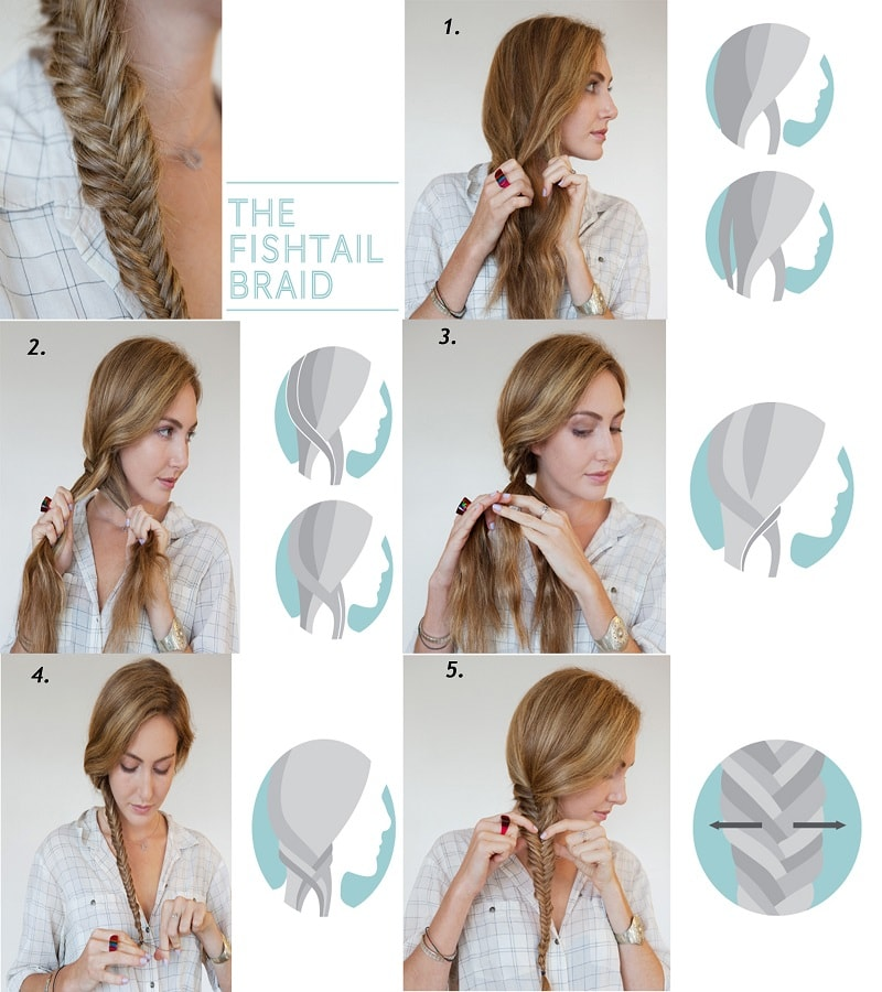 How to do a fishtail braid step by step style arena for Fish tail hair