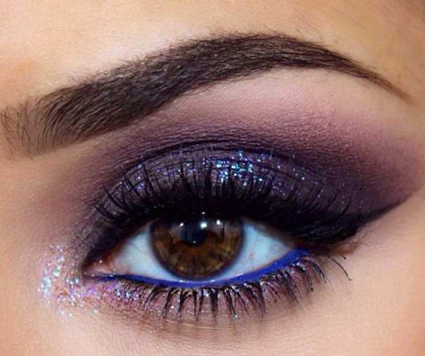 Makeup eye blue for dark brown eyes advise to wear in summer in 2019