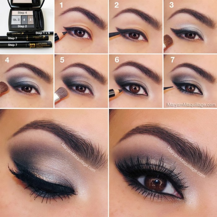 smokey eye makeup steps
