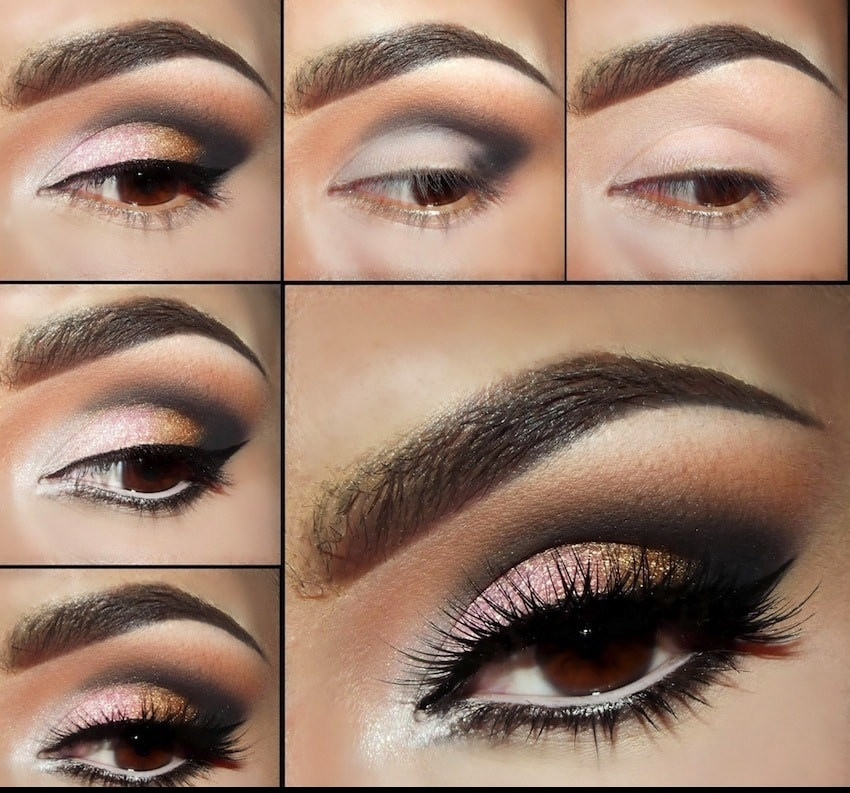 Makeup for brown eyes step by step