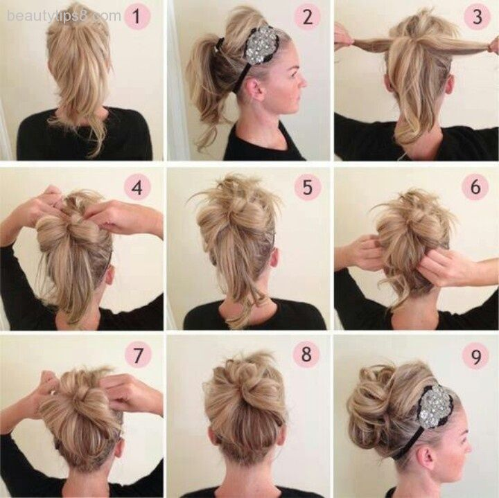 How to make a messy bun