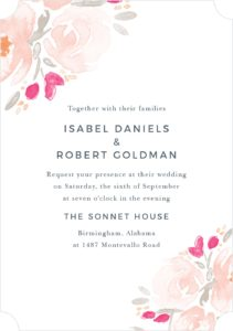 budget wedding invitations